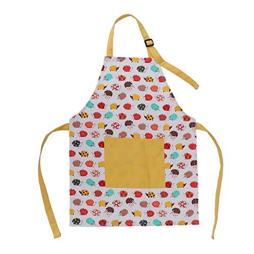 BESTonZON Grembiuli per Bambini in Cotone con grembiulini in Cotone con Cinturino Regolabile per Il Collo e Grembiuli da Cuoco per Bambini e Bambine