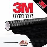 3M Di-Noc Carbon Fiber Matte Black Vinyl Car Wrap Film Sheet Roll - CA421-2ft x 4ft (8 sq/ft) (24' x 48')