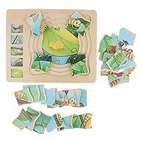 昆虫ジグソーパズル 木製 幼児パズル 蝶柄 パズルボード おもちゃ