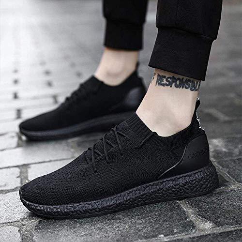 FVGH Mens Trainers Running Sneakers Sport Wandelen Casual Schoenen (kleur : Blauw, Maat : EU39/UK6/CN39) Eu39/Uk6.5/Cn40-black