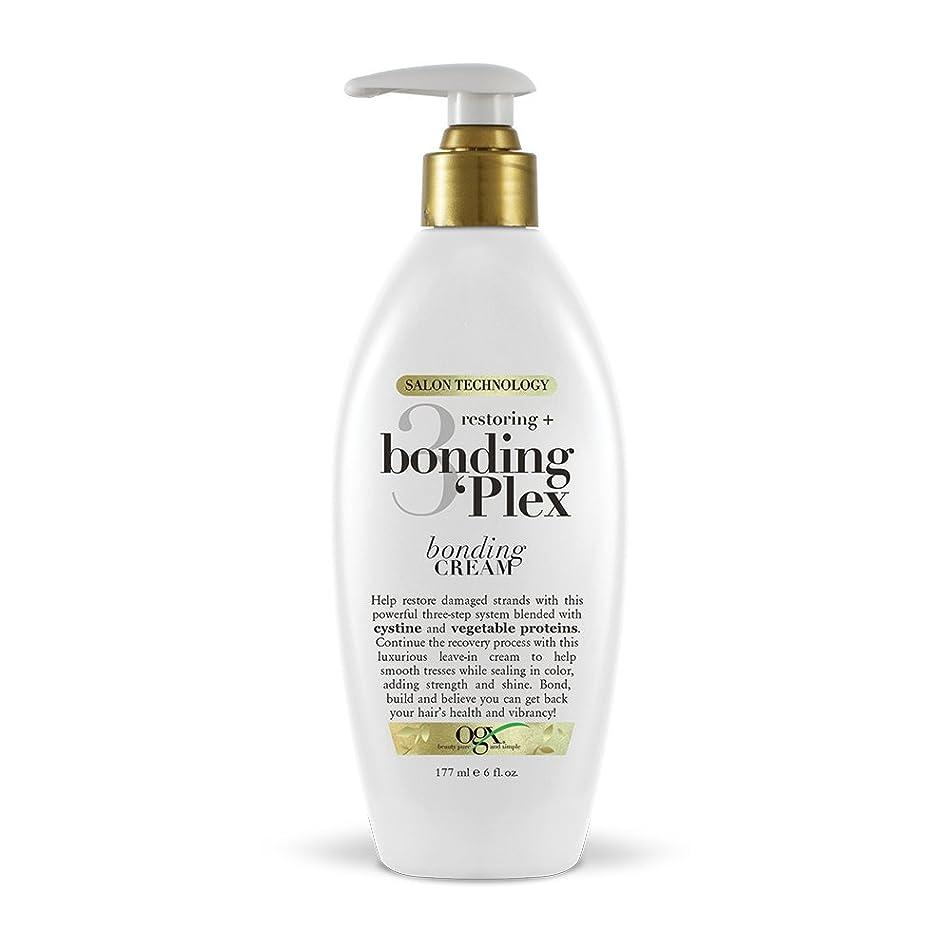 OGX Restoring + Bonding Plex Salon Technology Bonding Cream Leave-in Treatment, 6 Ounce
