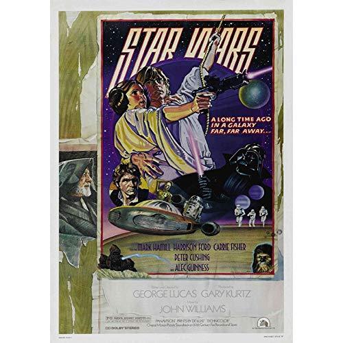 Star Wars Episodio IV New Hope 8 – Póster de la película – Mejor reproducción artística de calidad para decoración de pared, Canvas A0