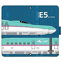 iPhone8 Plus ケース [デザイン:4.E5系はやぶさ-navy/マグネットハンドあり] 新幹線 JR東日本 手帳型 スマホケース カバー アイフォン iphone8p
