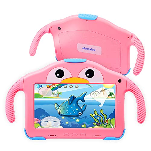 Kids Tablet 7inch Tablet for Kids Android Toddler Tablet HD Display 32GB Kids APP Preinstalled Learning Tablet WiFi Education Dual Cameras with Kid-Proof Case YouTube Netflix Google Play Store