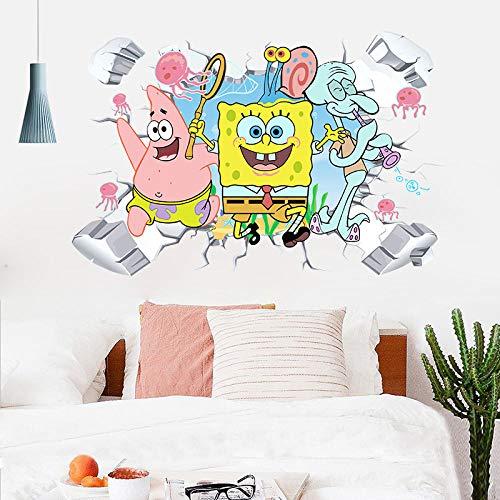 AUUUA Wandtattoos Cartoon Broken Wall Babywelt Wohnzimmer Schlafzimmer Kinderzimmer PVC Wasserdichte Wandaufkleber Aufkleber Dekorative Malerei
