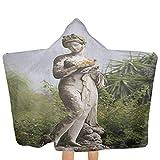 ZHSL Baby Hooded Badetuch Skulptur Figur Grün auf dem Gelände des Achillion Palace Corfu Island Badestrand Badetuch Poolabdeckung Größe für und Kleinkind Green Beige 51,5x31,8 Zoll