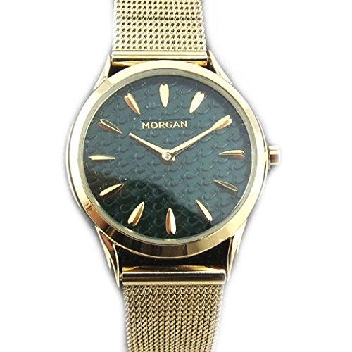 Morgan [N2331] - Orologio da polso 'french touch' 'Morgan' argentato dorato (elegance).