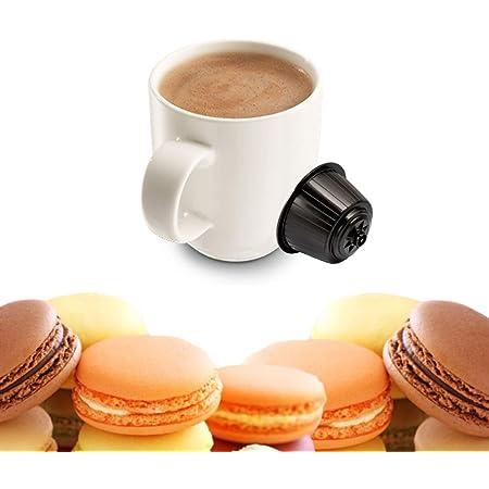 KICKKICK Lot de 16 capsules Macaron à l'Amande compatibles Nescafé Dolce Gusto – Boisson soluble en dosettes