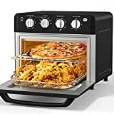 Air Fryer Toaster Oven, Beelicious, 19 Quart Large Countertop Convection Oven, 7-in-1 Toaster Oven Air Fryer Combo, Bake/Broil/Toast/Reheat/Fry Oil-Free, Accessories & Cookbook Included, ETL Certified