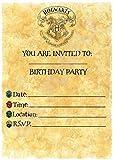 Harry Potter Birthday–invitaciones para fiestas–Carta de Hogwarts Tema accesorios de...