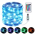 Rope Lights, Othran 33ft 100LEDs String Lights USB Powered, 16 Colors Changing 4 Modes with Remote for Decorate Garden, Pool, Stairs, Christmas