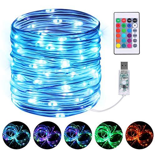 Led Schlauch, Infankey 10M 100 LED Lichterschlauch mit Fernbedienung &Timer,16 Farben 4 Modi,IP68 Wasserdicht, USB Lichtschlauchfür Wohnzimmer, Deko, Party, Feier