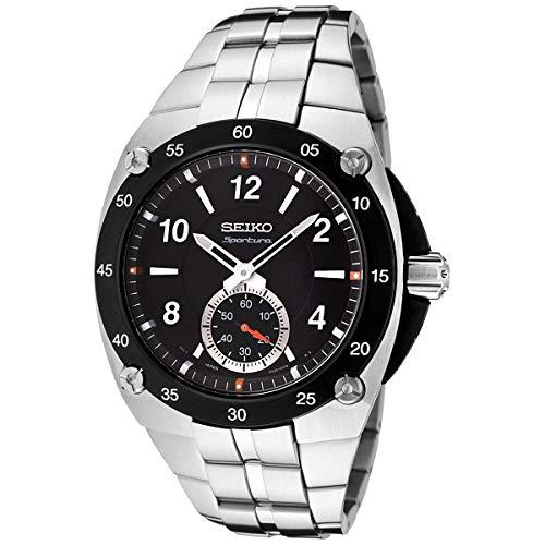 Seiko sportura Herren Uhr analog Quarzwerk mit Edelstahl Armband SRK023P1