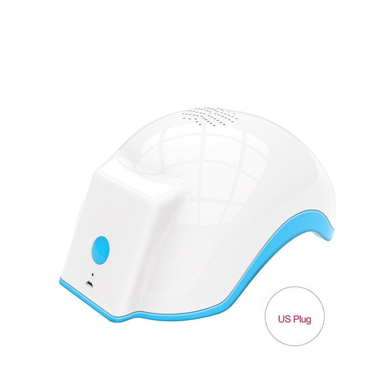 試してみるマンハッタン接触育毛ヘルメット、100-240v脱毛脱毛脱毛症キャップは、発毛を促進し、逆間伐、高密度再生(US Plug)