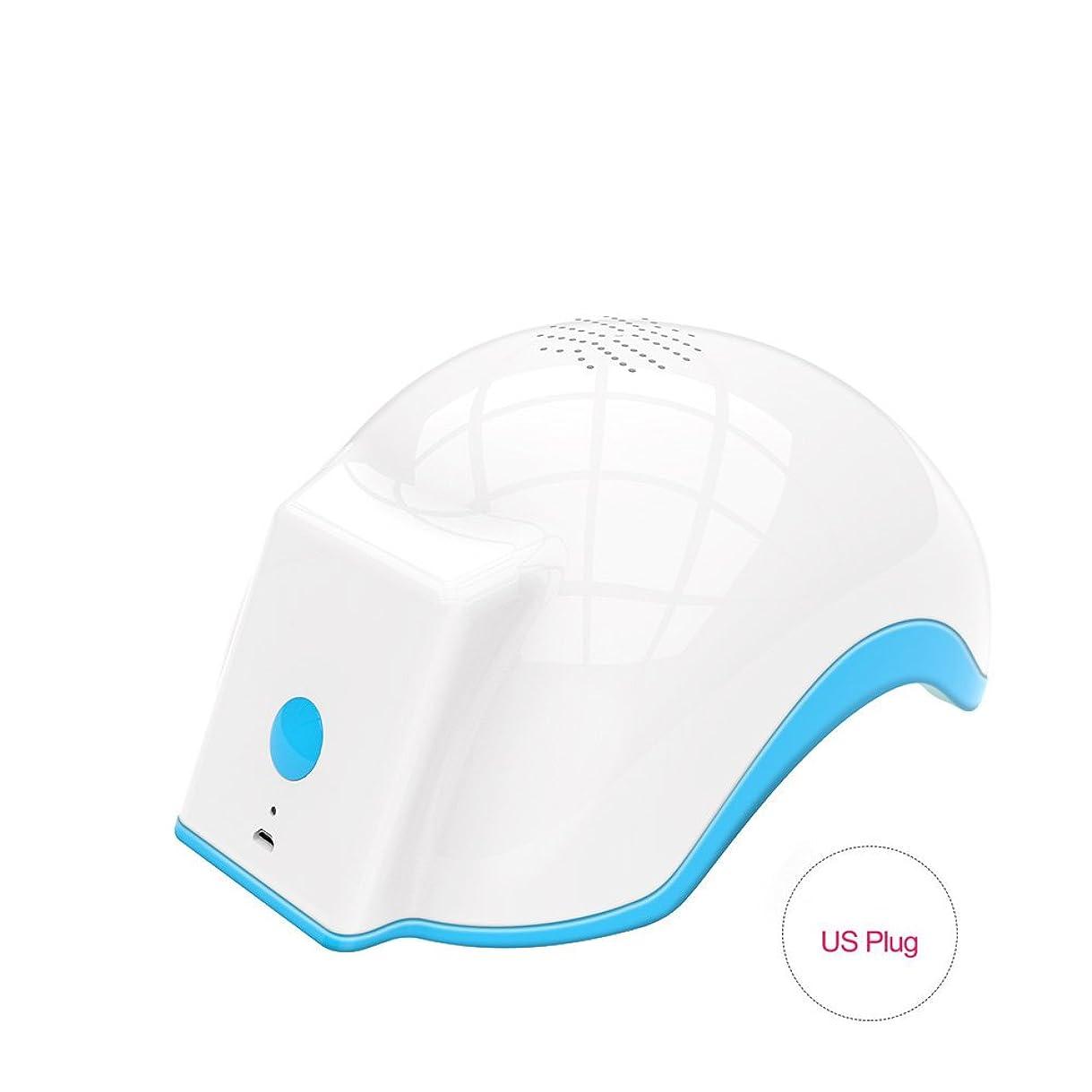 演じる根絶する迫害育毛ヘルメット、100-240v脱毛脱毛脱毛症キャップは、発毛を促進し、逆間伐、高密度再生(US Plug)