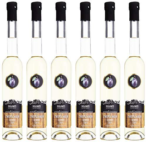 Dolomiti Antiquus Zwetschken Premium Spirituose 36% │ Alte Zwetschke aus dem Barrique-Fass │ milder & fruchtiger Schnaps 10694035 0.35 l