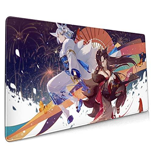 A-z-ur La-ne A-ka-gi Ka-ga - Alfombrilla de ratón grande para juegos de anime (rectangular, antideslizante, 90 x 40 cm)