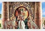 Figuras Egipcias Pintadas Y Leopardo 5D Diy Diamante Dibujo Redondo Completo Diamante Hecho A Mano Por Número Pegar Bordado De Punto De Cruz Decoración Del Hogar, 30 Cm X 40 Cm