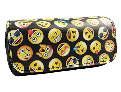 Detazhi Lindo Kawaii Emoji Escuela Caja de Lápiz Impresión Penal Mencilo MÁS PLAMEN for NIÑOS Muchachos Grande PLUSA Bolsa Papelería Box Box Supplies Niños