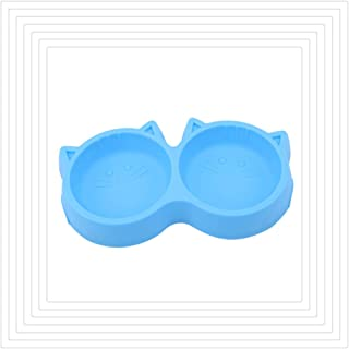 KISSFRIDAY ペットボウル ダブル フードボウル お皿 犬 猫 給餌容器 給水容器 二つボウル プラスチック