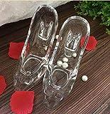 Willower Zapatillas De Cristal De Cenicienta Adornos Cristal Transparente De Tacón Alto para Enviar Novia Novia Esposa Regalo De Cumpleaños-2