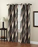 S. Lichtenberg 48 by 84-Inch Intersect Curtain Panel, Spruce