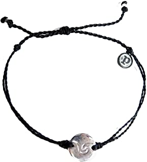 puravida(プラヴィダ)ブレスレット[ WAVE COIN CHARM]Blackコードブレス/お守り/アクセサリー/ジュエリー [並行輸入品]