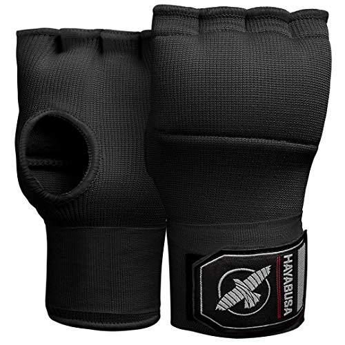 Hayabusa Quick Gel Boxing Hand Wrap Gloves - Black, Large