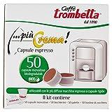 Caffè Trombetta, Capsule Compatibili Lavazza Espresso Point, Più Crema - 50 Capsule + Kit di Servizio