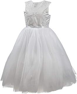 LOUISE Sarah 070035 - Vestido para niña de ceremonia elegante, diseño de princesas, color blanco