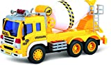 ThinkGizmos Fricción Camión de Juguete con Luces y Sonidos - Camión de Juguete (Marca protegida) (Mezclador de Cemento)