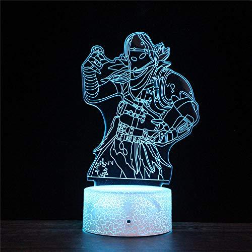 Fortnight 3D Illusion Lampe 3D Led Nachtlicht 16 Farben ändern Touch Switch Schreibtisch Lampen Geburtstagsgeschenk