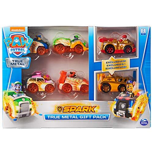 PAW Patrol 6059232 TRUE Metal - Set regalo con sei veicoli in metallo, versione Spark