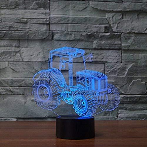 Optische Illusie 3D Tractor Nachtlampje 7 Kleuren Veranderende Usb Aanraakschakelaar Decorlamp Led Tafel Bureaulamp Brithday Kinderen Kinderen Kerst Kerstcadeau