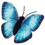 Hermann Teddy - Peluche Mariposa Azul Herman Teddy 15 cm.