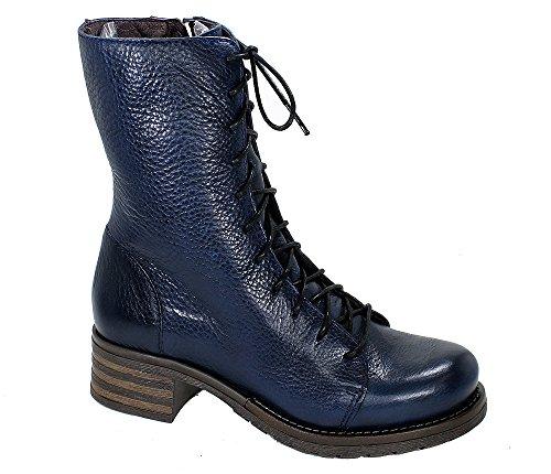 Brako Stiefel Boots 8470 Traviata Military Leder Marino blau (36)