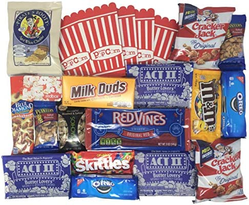 Movie Night Gift Box with Snacks and Redbox Movie Rental Code product image