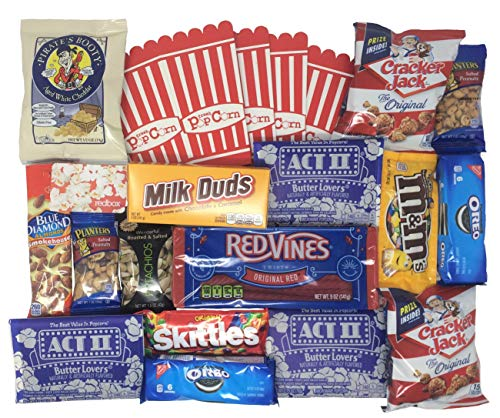 Movie Night Gift Box with Snacks and Redbox Movie Rental Code