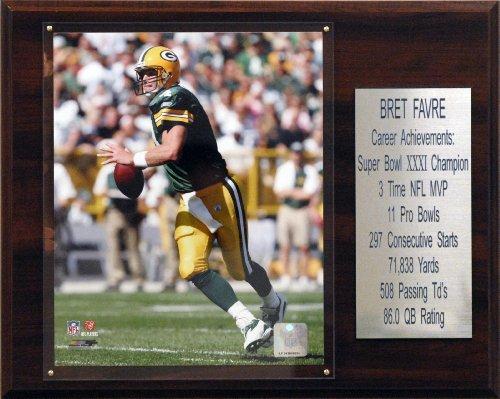 NFL Brett Favre Green Bay Packers Career Stat Plaque