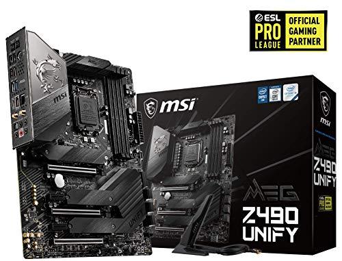 MSI MEG Z490 UNIFY ATX-Gaming-Mainboard (10. Generation Intel Core, LGA 1200-Sockel, SLI/CF, drei M.2-Steckplätze, USB 3.2 Gen 2x2, Wi-Fi 6)