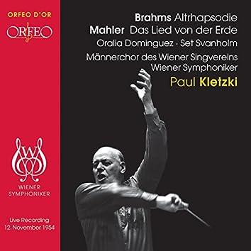 Brahms: Alto Rhapsody - Mahler: Das Lied von der Erde