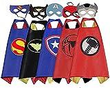 Brigamo 5 x Superhelden Kinderkostüm Kinder Kostüme, ideal für Kindergeburtstag, Fasching oder...