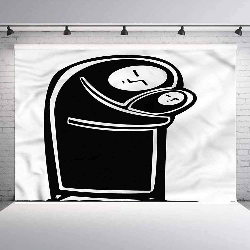 8x8FT Vinyl Backdrop Photographer,Doodle,Mother with Her Infant Child Background for Baby Birthday Party Wedding Graduation Home Decoration