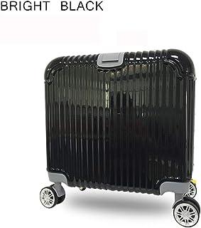 GLJJQMY Trolley 16 Inch Lightweight Hard Shell Universal Wheel Business Unisex Suitcase Fashion Hand Luggage Trolley Case Luggage Trolley case (Color : Black)