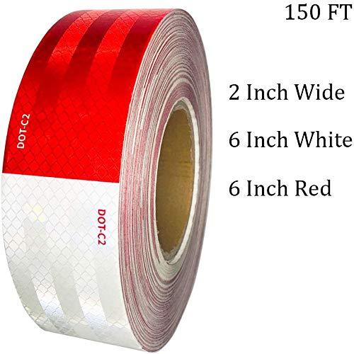 Dot remorque Ruban réfléchissant rouge//blanc Jour Lumineux Extérieur Imperméable Réflecteur