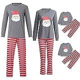 POLP nio Navidad Santa Claus Ropa nias Unisex casa Pijama Bebe Navidad Regalo Manga Larga Camiseta Tops a Rayas Pantalones Padres e Hijos Nio Madre e Hijo 2pc Rojo Camisa Sudadera
