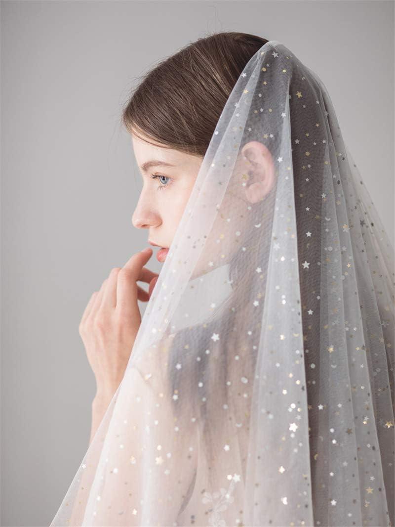 San Francisco Mall feiren Bridal Veil Two-Layer Women's Veils Short Sequine Wedding Minneapolis Mall