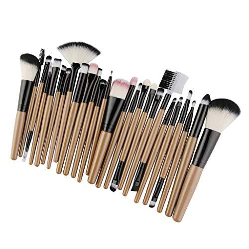 25pcs Pinceau Fond de Teint Professionnel pour Maquillage du Visage - Parfait Pour Mélange Liquide, Crème ou Poudre Cosmétique - Noir doré