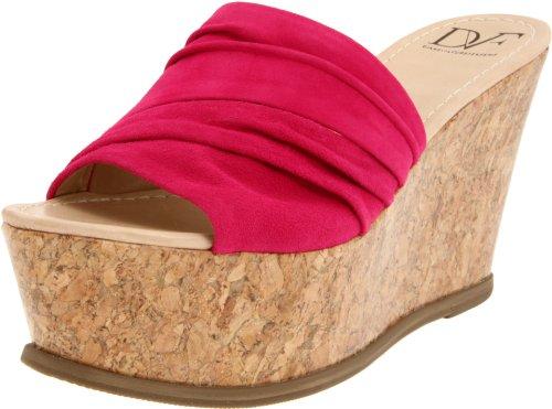 Diane von Furstenberg Women's Palm Wedge Sandal,Fuschia,9.5 M US