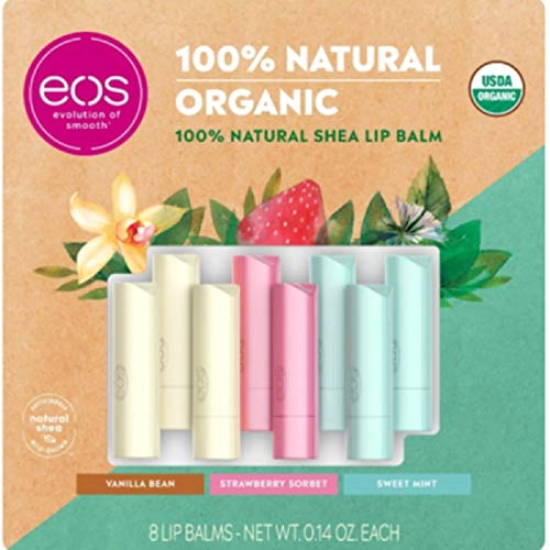 eos 100% Natural and Organic Lip Balm Variety Pack, 8 ct.